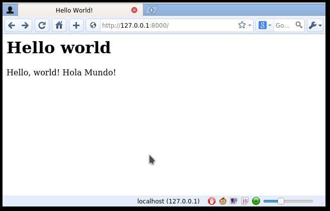 django hello world