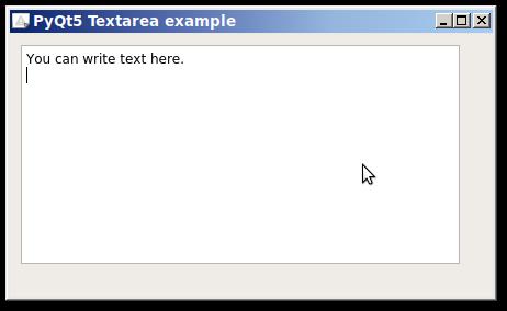 pyqt text area